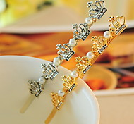 Pearl Set Auger Crown Clip Hairpin