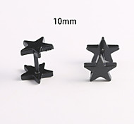10mm Star Stainless Steel Earrings
