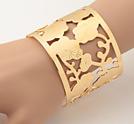 tamaño u7® gran vendimia pulseras estilo brazaletes para mujeres / hombres chapados en oro de 18K grueso verdadero brazalete brazalete de joyería