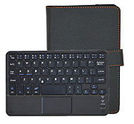 universale 81-tastiera bluetooth v3.0 pu custodia in pelle w / touchpad per tablet 7 '' - nero