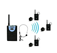 2.4G Digital Wireless Tour Guide / Translation system (1 Transmitter and 3 Receivers)