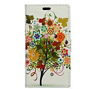 árbol frutal patrón de árbol caso de cuerpo completo para Huawei p8 Lite