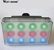 WEST BIKING® LED3 Pattern night before riding the bicycle Lights Bullfrog Light Taillight Bike Taillight Warning 12LED