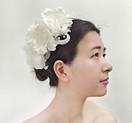Capacete Flores Casamento/Ocasião Especial/Ao ar Livre Crostal/Imitação de Pérola/Tecido/Rede MulheresCasamento/Ocasião Especial/Ao ar
