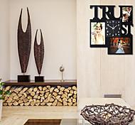 relógio de parede com fotos de moda função projeto quadro