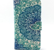 Peacock Flower Pattern PU Leather Case with Card Slot and Stand for Galaxy A3/A5