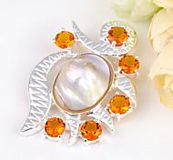 moda in avanti naturale guscio brasile citrino gemma 925 uva d'argento pendenti per collane per la festa nuziale 1pc quotidiano