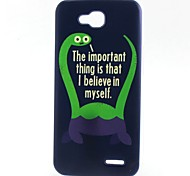Monster Pattern TPU Material Soft Phone Case for LG L90 D405