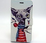 Pipe Dog Pattern PU Leather Material Card Full Body Case for iPhone 6 Plus