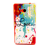 Watercolor Pattern TPU Phone Case for Nokia Microsoft Lumia 640