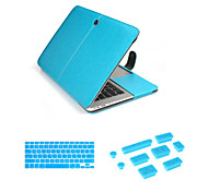 Luxury Leather Hasp Case bag with Keyboard Cover Flim and Silicone Dust Plug for Macbook Air 11.6 (Assorted Colors)