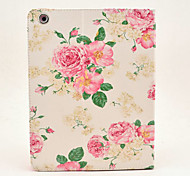 pivoine haut de gamme fleur peinte cas tablette pc pour ipad2 / 3/4