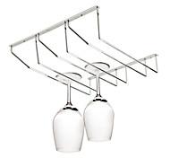 aço inoxidável pendurado copo de vinho rack de titular rack de armazenamento taça taça de vinho (três linhas)