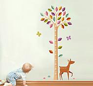наклейки наклейки для стен стиль Жираф деревья измерять высоту ПВХ стены стикеры