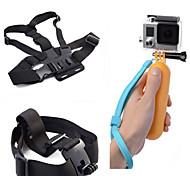 3-em-1 kit de acessórios para câmeras de esportes para GoPro Hero 4/3/3 + / sj4000 / sj5000 / sjcam / xiaoyi