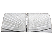 Women Satin Event/Party Evening Bag White / Gray / Black