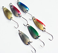 "Esca metallica 2.5g g / 1/10 Oncia , 55mm mm / 2-1/8"" pollice 10pcs pc Pesca con esca , Colori assortiti Metallo"