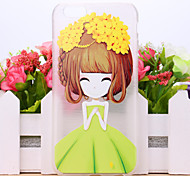 Flower Girl Pattern TPU Case for iPhone 6