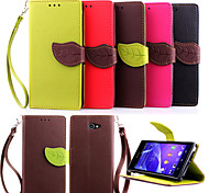 Luxury Leather Card Holder Magnetic Flip Cases Mobile Phone Shell Leaf Pouch Wallet For SONY Xperia Z1/Z1 Mini/M2/Z2