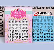 Black White Flowers Nail Art Stickers