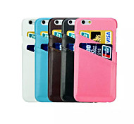 caja del filtro de la tarjeta dual de piel de cordero para el iphone 6 (colores surtidos)