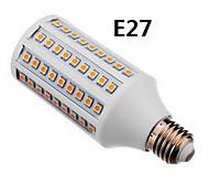 e27 / gu10 15w 108x5050smd 800-950lm cálida luz blanca / naturales llevó el bulbo de maíz (110-240v)
