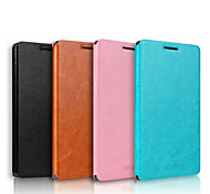 For Huawei Case with Stand / Flip Case Full Body Case Solid Color Hard Genuine Leather Huawei