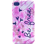 Pink Flowers Pattern PC Material Phone Case for iPhone 4/4S