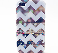 Color Wave Pattern TPU Material Phone Case for iPhone 4/4S