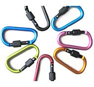 escalade de haute qualité mousqueton porte-clés alliage clip crochet de la chaîne d-anneau en aluminium (couleurs assoted)