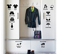 Fashion Black Chest Tags PVC Wall Sticker Chest Decals