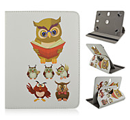 The owl Dr Pattern 360 Degree Rotation High Quality PU Leather with Stand Case for 10 Inch Universal Tablet