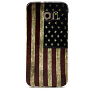 Stars and Stripes Pattern TPU  Hemming  Phone Case For Galaxy S6 / S6 edge