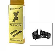 mini Lächeln ™ Edelstahl-Uhrenarmband für Apple watch - schwarz