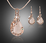 Women Vintage / Party / Casual Alloy / Gemstone & Crystal / Cubic Zirconia Necklace / Earrings Sets