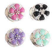 diy Perlen Metall candy Farbe Blume runde Form Perlen mit großem Loch 5pcs