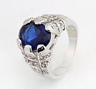 Size 8/9/10 High Quality Men Blue Sapphire Rings 10KT White Gold Filled Ring