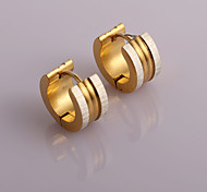 Fashion New Outside Double Drawing Double Color  Hoop Earrings Wedding/Party/Daily/Casual 2pcs