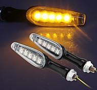 5 LED Motorcycle Turn Signal Indicator Light Amber for Suzuki GSXR 600 1000(2 Pcs)