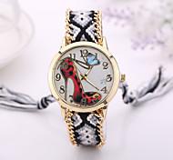 2015  Women Watches Gold Wristwatch Ladies Quartz Watches Geneva Handmade Weave Braided   Bracelet XR1251