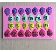 les lettres de ballons fondant moule en silicone en forme de gâteau au chocolat, des outils de décoration ustensiles de cuisson