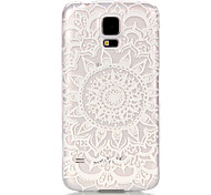 Sunflower Pattern Transparent PC Material Phone Case for Samsung GALAXY S6 /S6 edge/S5/S3Mini/S4Mini/S5Mini