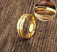 Personalized Gift Jewelry  Gold Plating Stainless Steel Engraved Men's Rings