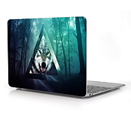 "Triangle and Wolf Design Full-Body Protective Case for 12"" Inch The New Macbook with Retina Display (2015 Release)"