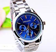 Men's Business Round Dial PC Movement Steel Strap Fashion Life Waterproof Quartz Watch Wrist Watch Cool Watch Unique Watch