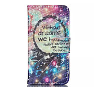Star Dreamcatcher Pattern PU Leather Painted Phone Case For iPhone 4/4S