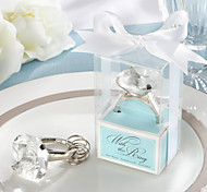 """WJ038/C """"With This Ring"""" Engagement Ring Keychain in Blue Gift Box"""