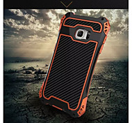 R-Just Aluminum Carbon Fiber Metal Case Cover Armor Gorilla Glass Shock Dust Proof For Samsung Galaxy S6 edge