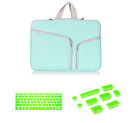 "Top Selling  Zipper Sleeve bag with Keyboard Cover and Silicone Dust Plug for Macbook Air 13.3""  (Assorted Colors)"