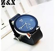 Herrenmode Einfachheit Quarz Analog Stahlband-Armbanduhr (farbig sortiert)
